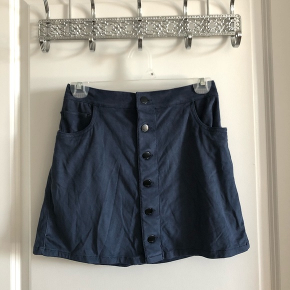 Mini velvet/suede button down skirt from Express